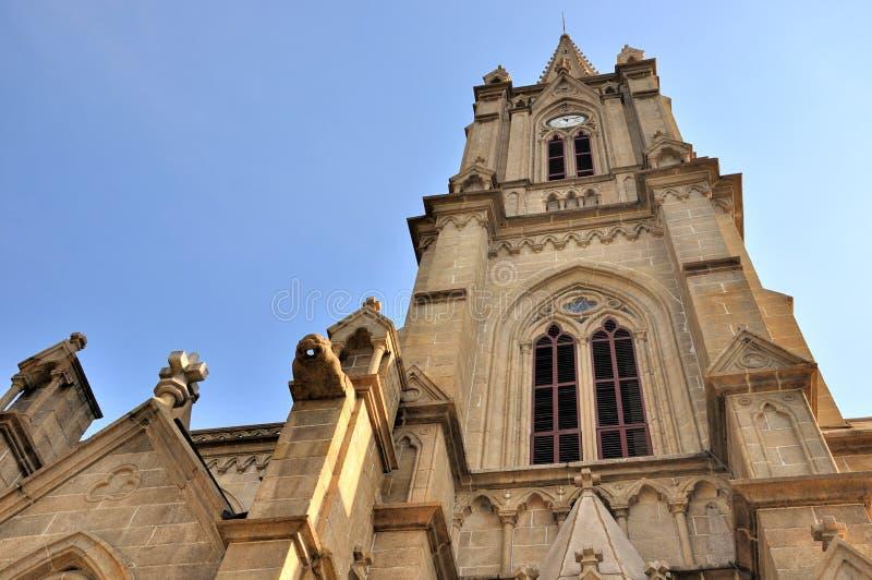 Stone Catholic church tower