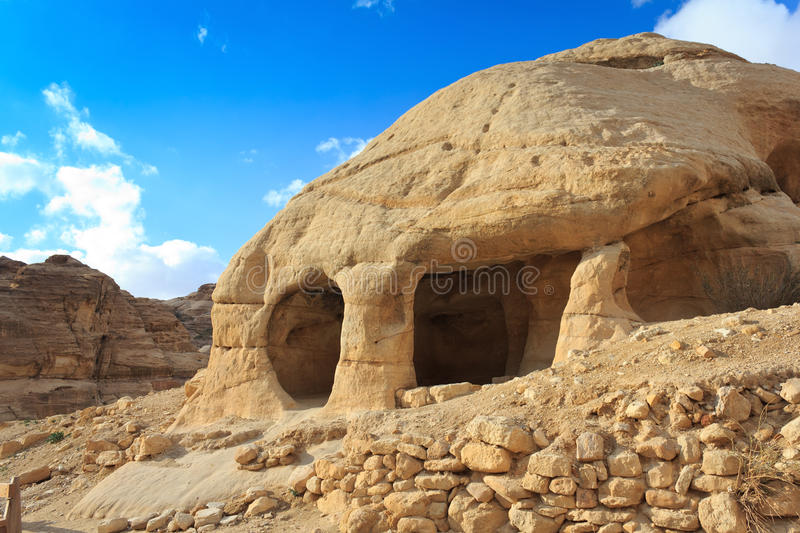 Download Stone Cave Home In Bab As-Siq, Petra Stock Photo - Image: 24509056