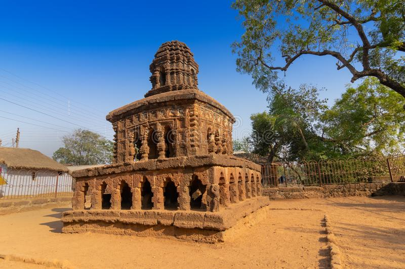 Stone chariot, miniature temple of Bishnupur, West Bengal, India royalty free stock photography