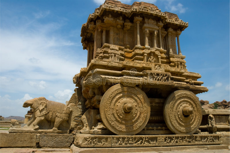 Stone chariot, Hampi royalty free stock images