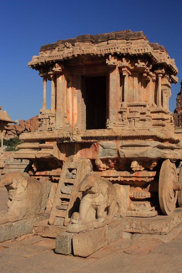Stone Chariot In Hampi, India. Stock Photo