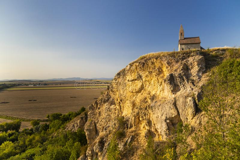 Stone church of Drazovce near Nitra, Slovakia, Europe royalty free stock images