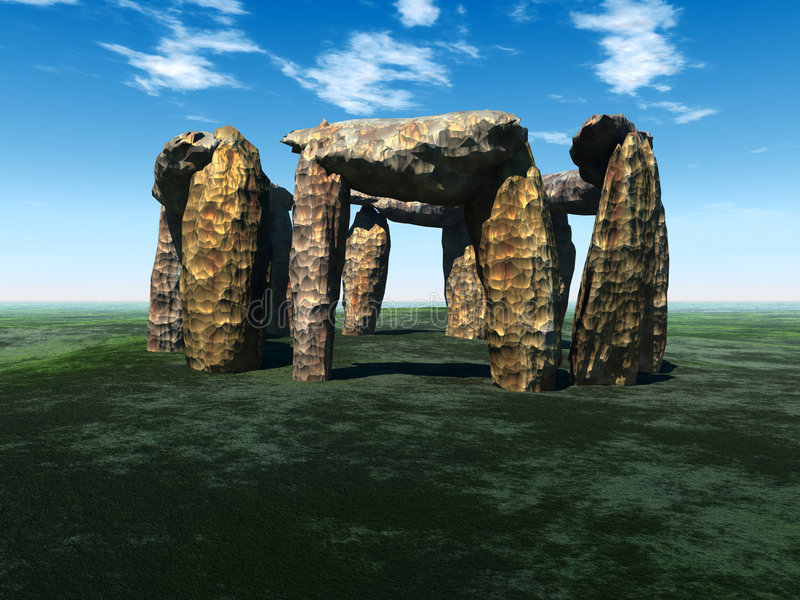 Download Stone Circle 4 stock illustration. Image of ancient, color - 2634988