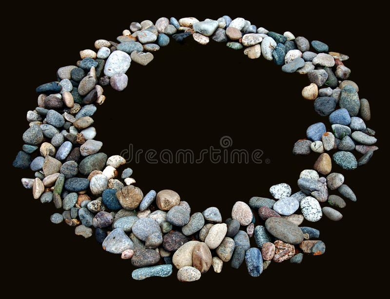 Stone Circle. Isolated circle made of smooth stones royalty free stock images