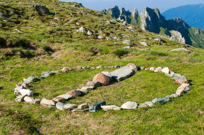 Download Stone Circle Sign In The Mountains Stock Photo - Image: 25843110
