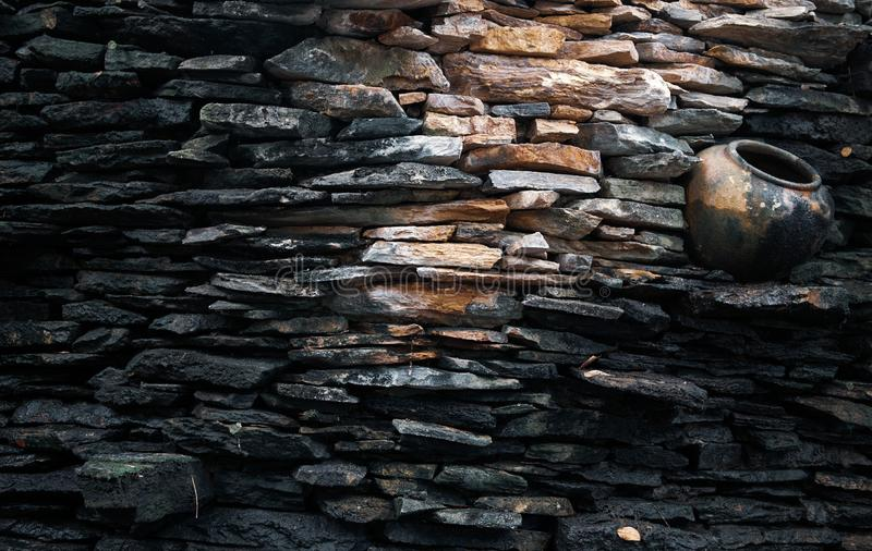 Stone cladding stone wall pattern texture background royalty free stock images