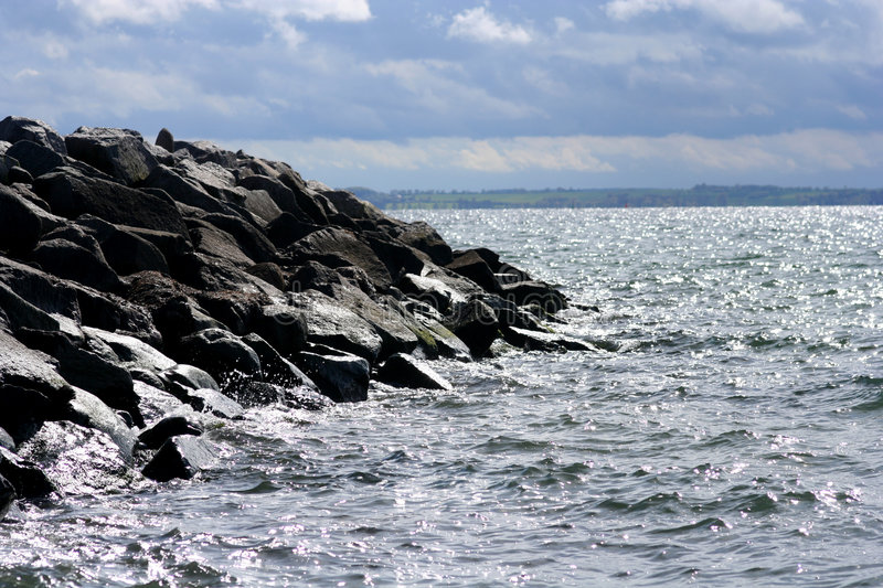 Stone Coast with Water.