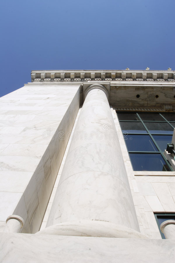 Download Stone Column On Financial Building Stock Image - Image: 841519