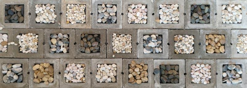 Stone in concrete block background. stock photos