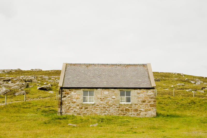 Download Stone cottage stock image. Image of farm, empty, front - 20901717