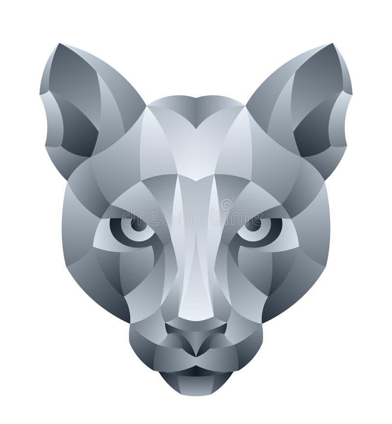 Cougar head royalty free illustration