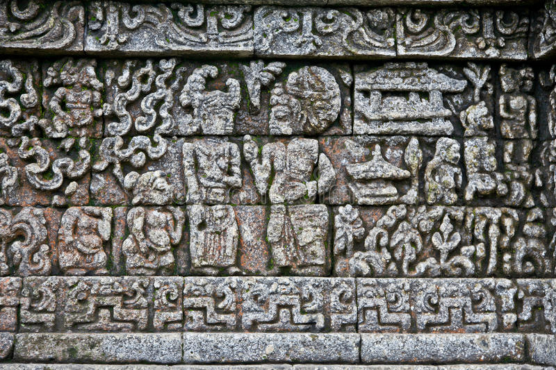 Stone craft in Candi Jago Temple near by Malang, east Java, In. Stone craft in Candi Jago Temple near by Malang on east Java, Indonesia royalty free stock photo