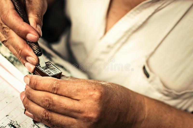 Download Stone craftsman hands stock image. Image of worker, rock - 25821275