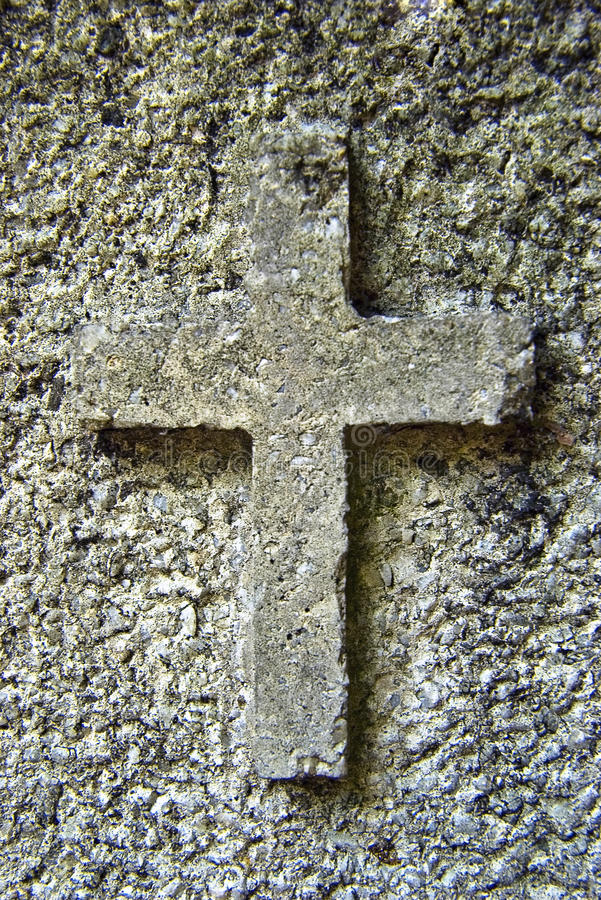 Stone cross stock photo