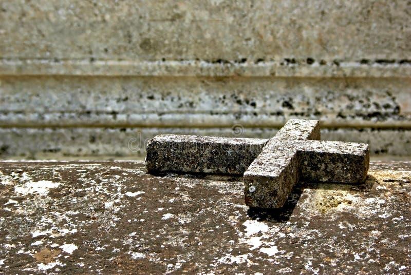 Stone cross stock photos