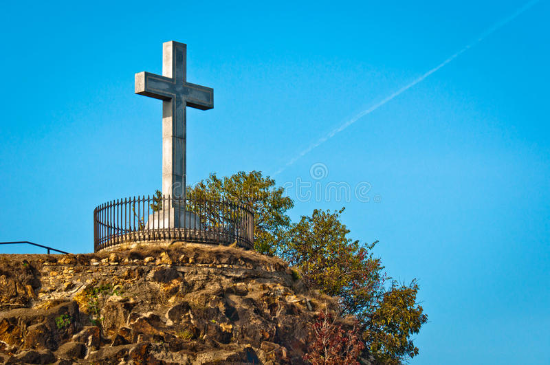 Download Stone Cross At The Top Of A Mountain Stock Photography - Image: 23621932