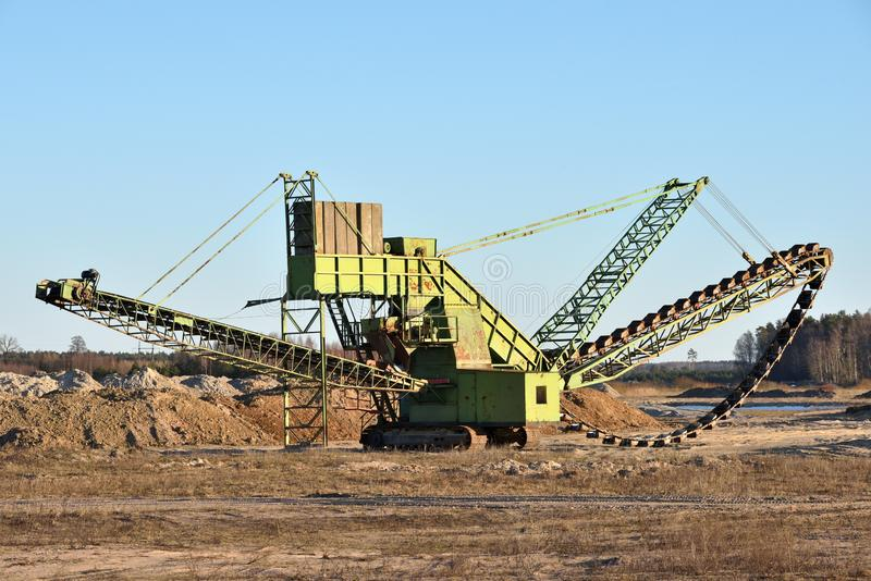 Stone crusher in the quarry royalty free stock photos