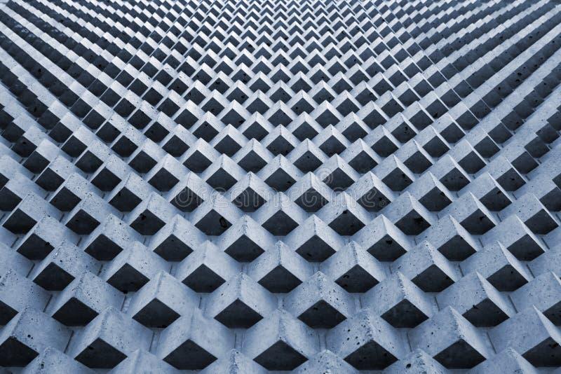 Stone cube blocks pattern, perspective geometric background royalty free stock photo