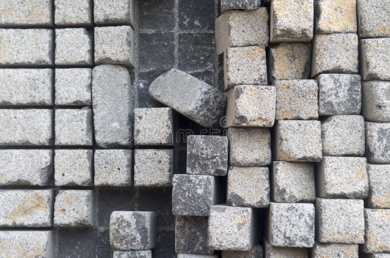 Stone cubes royalty free stock photo