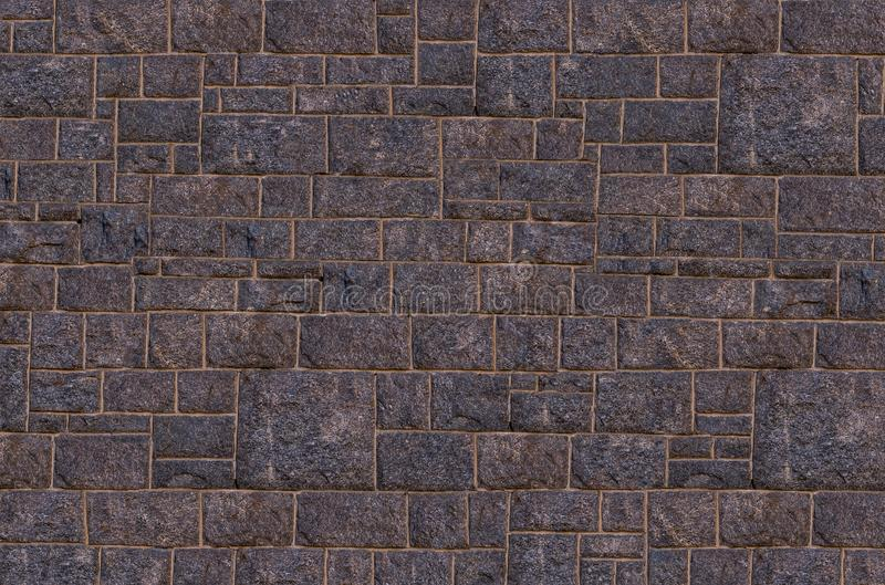 Stone dark marble with rectangular blocks tiles geometric pattern cement lines abstract background pattern stock photo