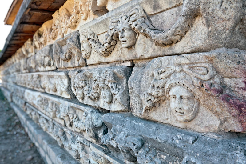 Stone Decorations In Aphrodisias Royalty Free Stock Images