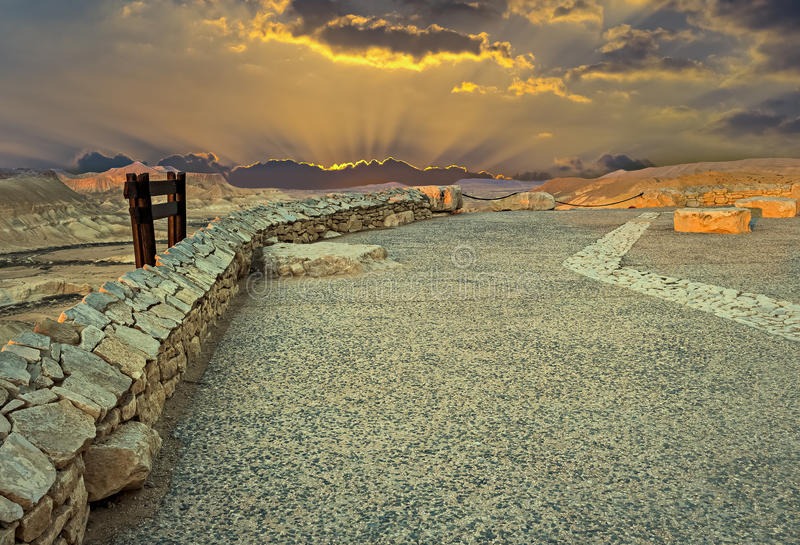 Stone desert of Negev, Israel royalty free stock photos