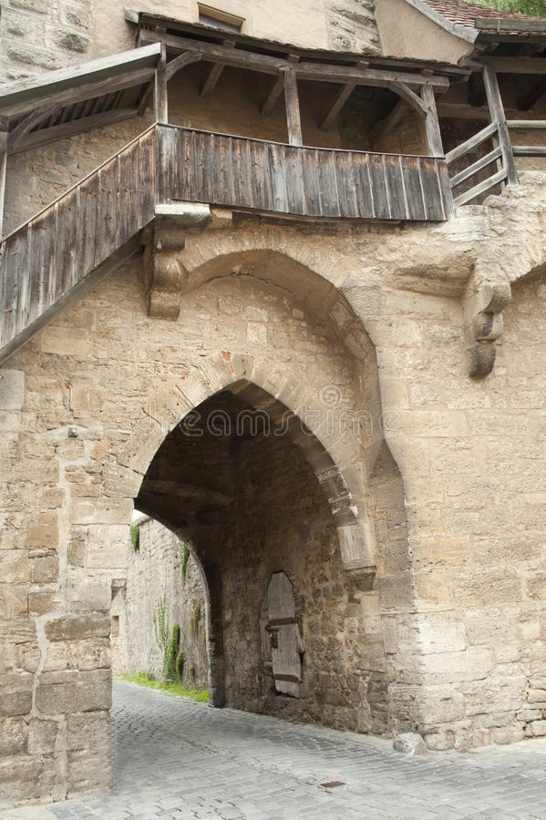 Download Stone Door In Historical City Wall Stock Photo - Image: 25023934