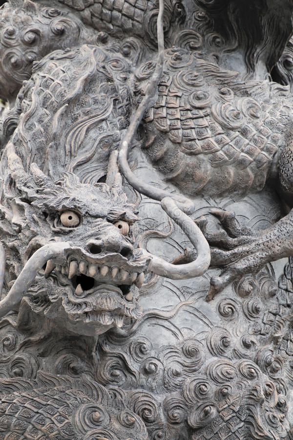Stone dragon sculpture stock images
