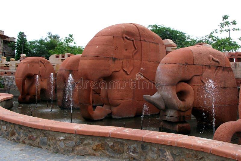 Stone Elephant stock image