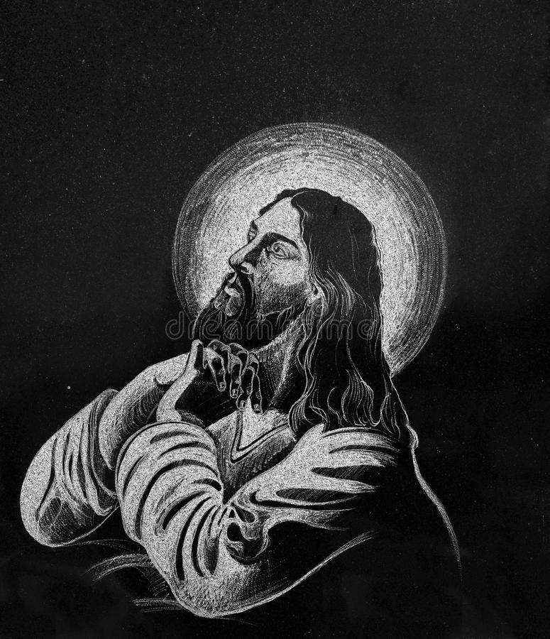 Free Stone Engraving Of Jesus Royalty Free Stock Photography - 16178897