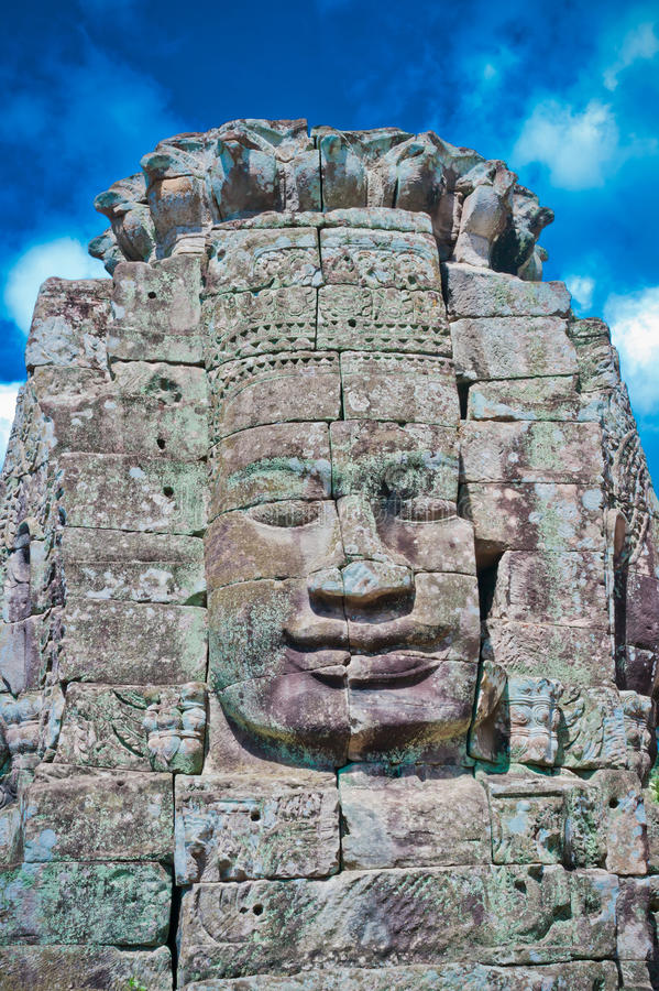 Download Stone Face, Bayon Temple - Angkor Area Stock Image - Image: 23571081