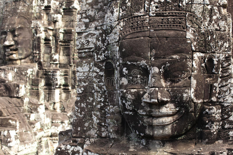 Download Stone Face Monument At Bayon Temple, Cambodia Stock Photo - Image of ancient, archeological: 26529438