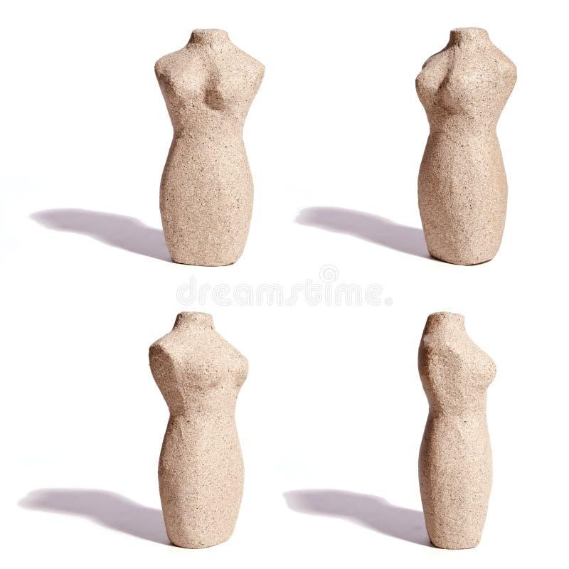 Stone Female Torso, Four Angles stock photography