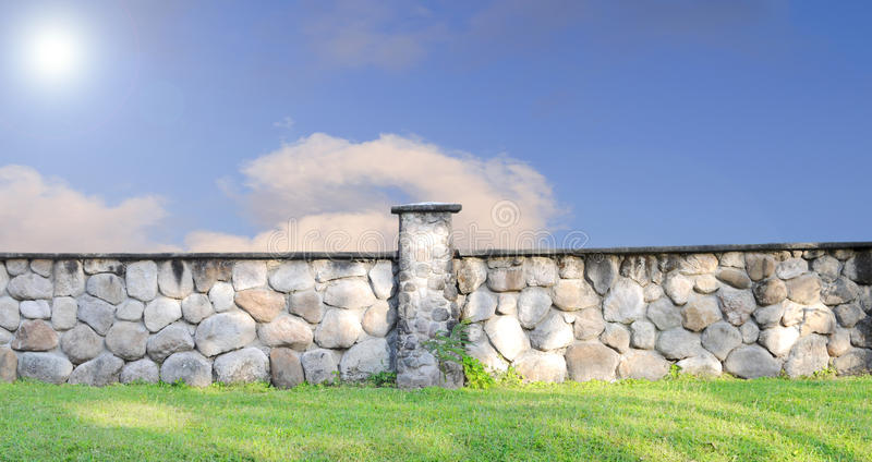 Stone Fence royalty free stock photography