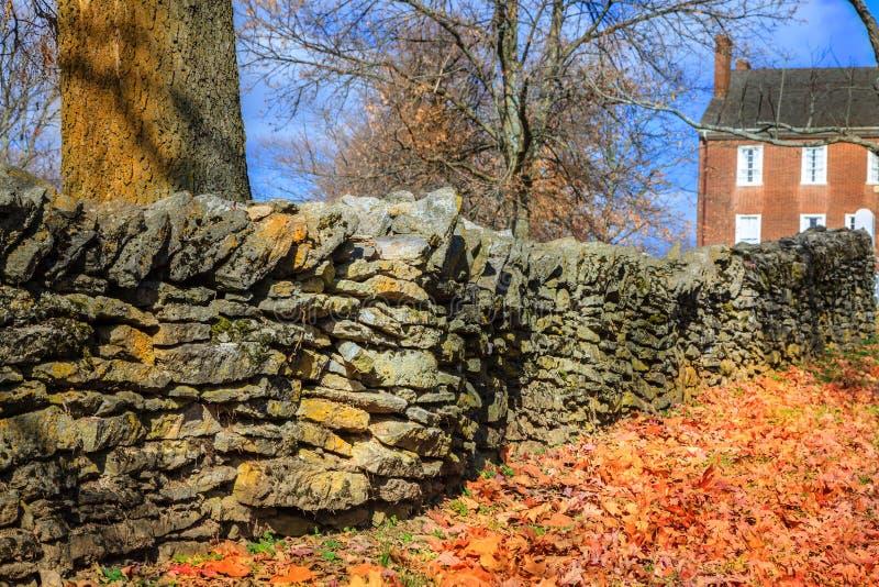 Stone Fence Royalty Free Stock Photo