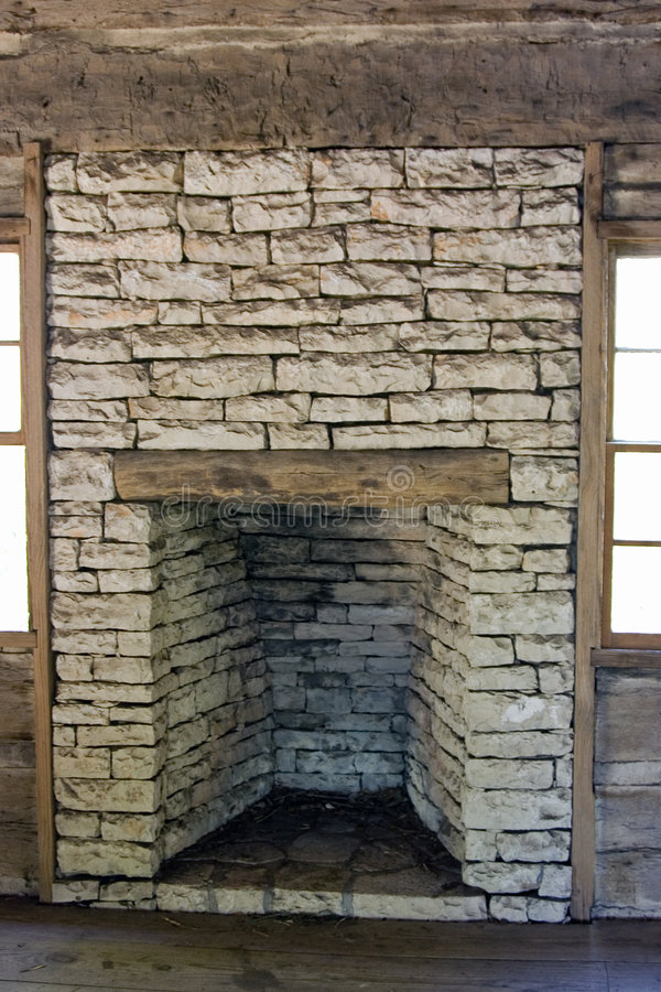 Download Stone Fireplace stock image. Image of pioneer, building - 5983475