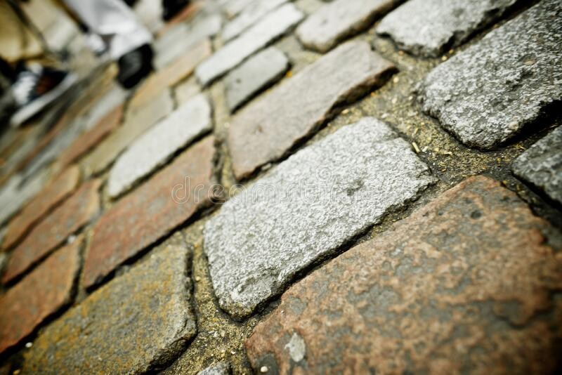 Stone floor view. Stone floor background in Paris, France stock images