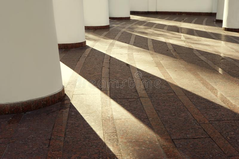 Stone floor of building in style royalty free stock photo