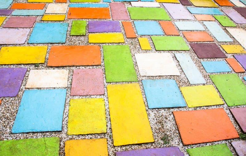Stone floor tiles stock image