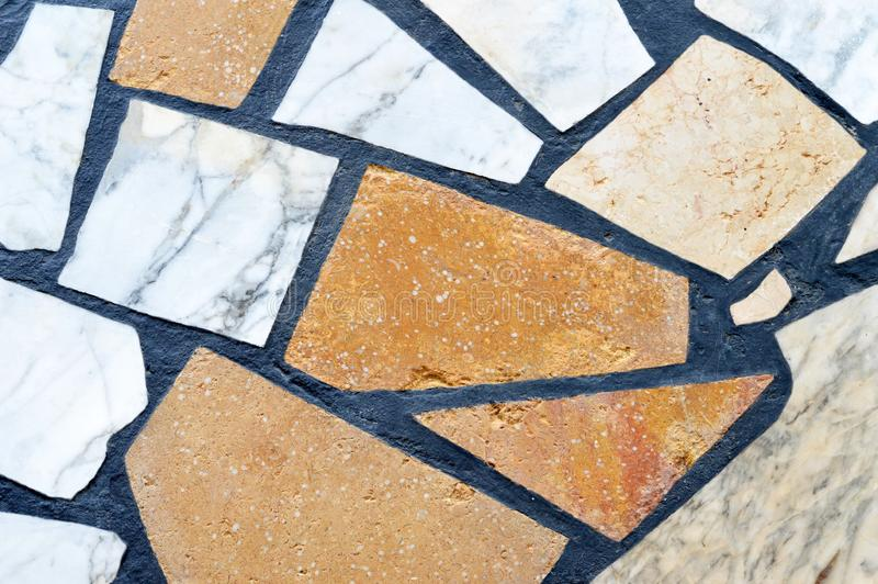 Stone floor tiles royalty free stock photos