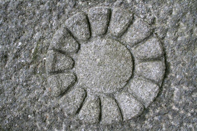 Stone flower royalty free stock photos