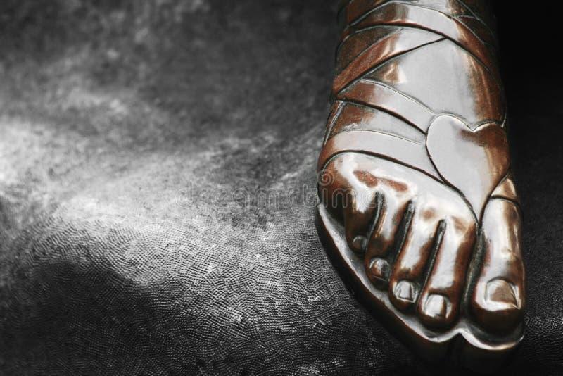 Stone foot stock image