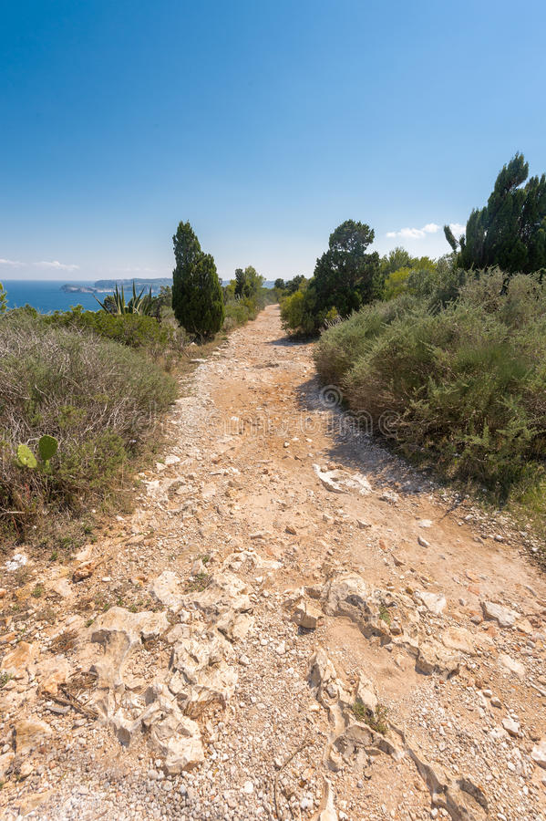 Download Stone Footpath In The Mountains Leading To Down Stock Image - Image: 33672669