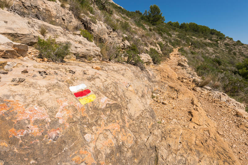 Download Stone Footpath In The Mountains Leading To Down Stock Image - Image: 33681787