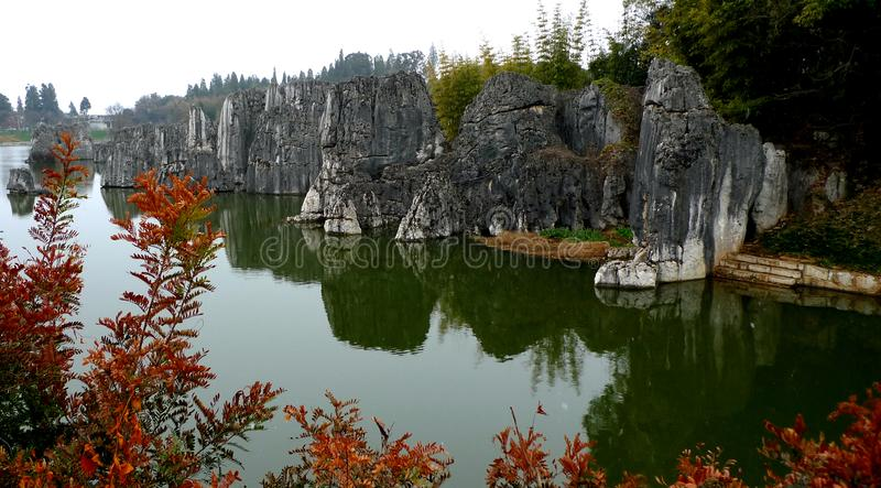 Stone Forest in Lunan, Yunan stock image