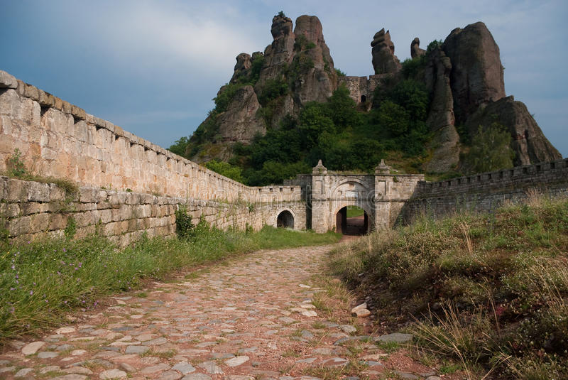 Stone Formations and Castle royalty free stock images