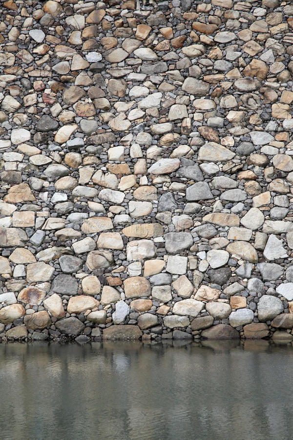 Stone fortress wall royalty free stock images