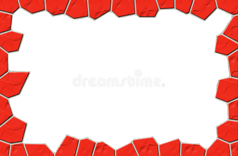 Stone frame stock illustration