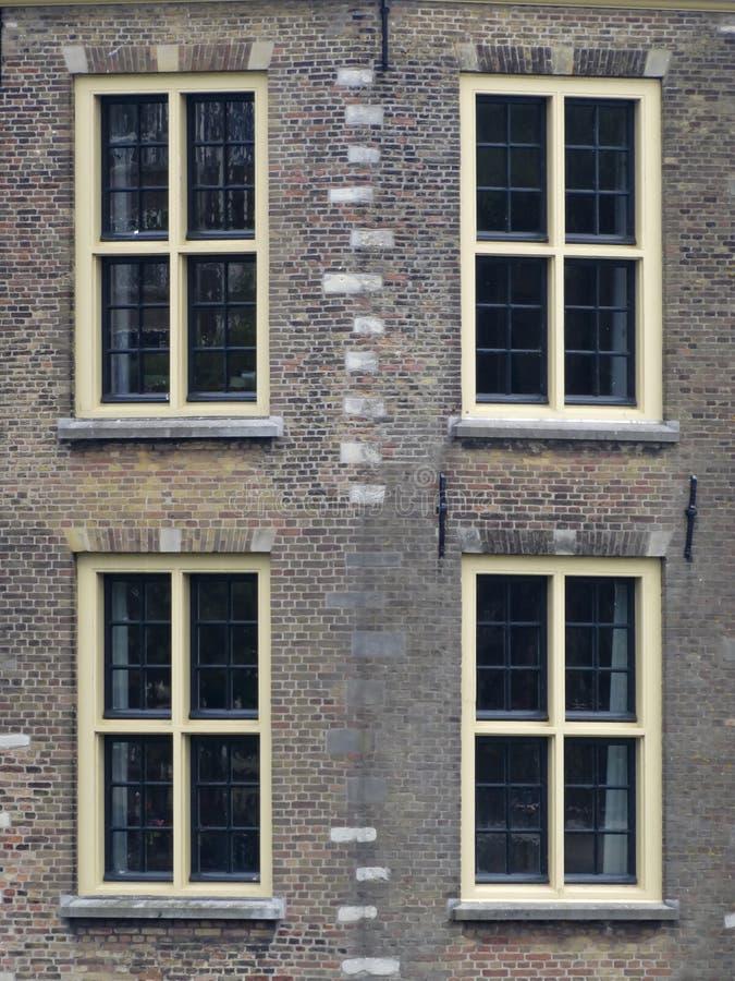 Stone windows stock image