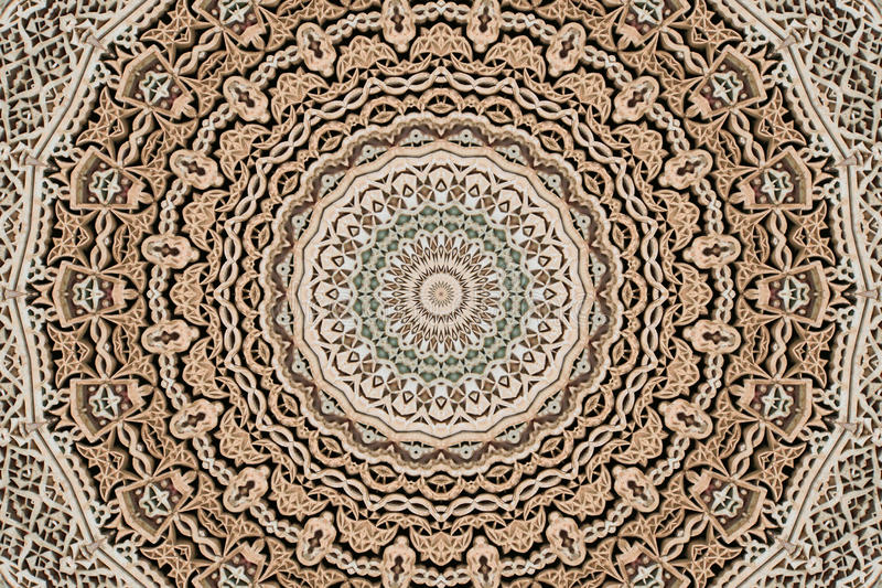 Stone fretwork abstract 4. Pattern of stone fretwork from Moroccan building royalty free stock image